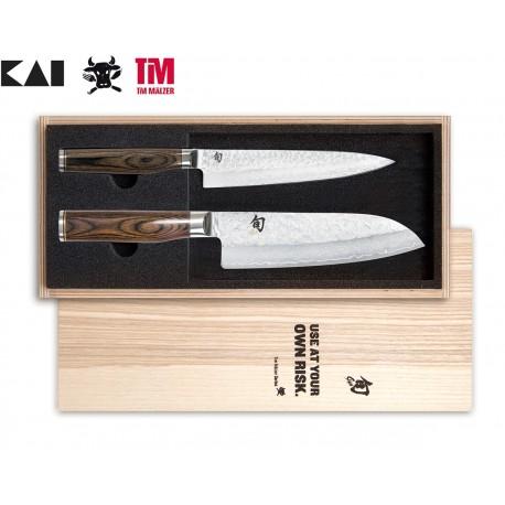 TDMS-230 SHUN TIM MÄLZER knife set KAI - contains TDM-1701 a TDM-1702