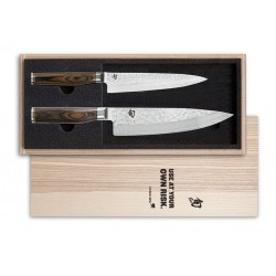 TDMS-220 SHUN TIM MÄLZER knife set KAI - contains TDM-1701 and TDM-1706