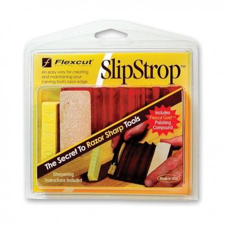 Leštiaci prípravok Flexcut SlipStrop PW12 na rezbárske dláta