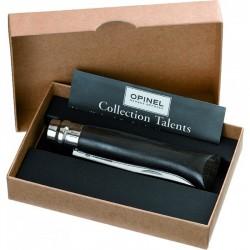 N°08 VRI pocket knife OPINEL Luxury Ebony handle, gift box