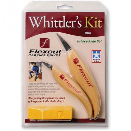 Sada  2 detailných rezbárskych nožov Flexcut KN300 (obsahuje KN13, KN27