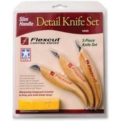 Sada  3 malých rezbárskych nožov Flexcut KN400 (obsahuje KN19, KN20, KN27