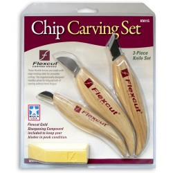 Řezbářská sada 3 nožů na reliéfy Flexcut KN115 (obsahuje KN11, KN15, KN20)
