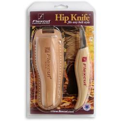 Rezbársky nôž s koženým púzdrom Flexcut KN30