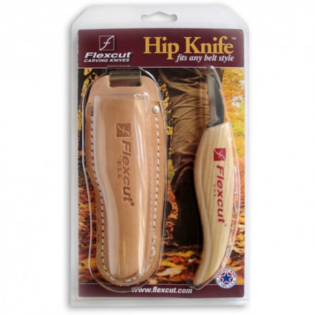 KN30 Hip Knife with leather sheath Flexcut