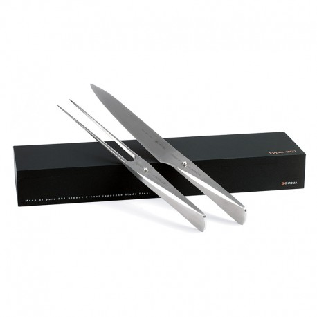 P-517 Type 301 Serving set CHROMA - Knife P5 and fork P17