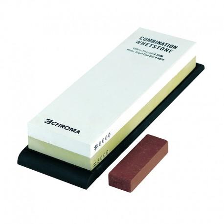 3000/8000 CHROMA ST-3/8 combination sharpening stone with Toishi