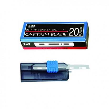 CAP-20BL set of 20 razor blades in divider KAI Captain Standard