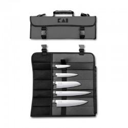 DM-0781EU67 KAI sada 5 nožů s taškou WASABI BLACK - 6710P, 6715U, 6716S, 6720C, 6723L