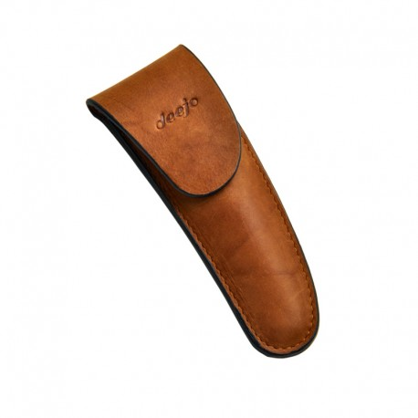 DEE504 Leather sheath for Deejo 37g brown with magnetic flap