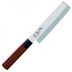 MGR-165N REDWOOD Nakiri jednostranne brúsený nôž na zeleninu, dĺžka ostria 16,5cm