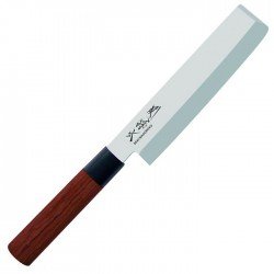 MGR-165N REDWOOD Nakiri single bevel vegetable knife, blade length 16,5cm