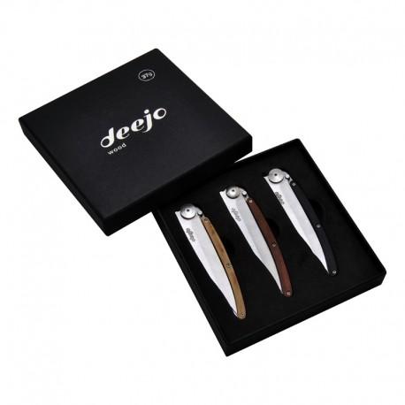 DEE002 Set of 3 knives Deejo Wood 37g