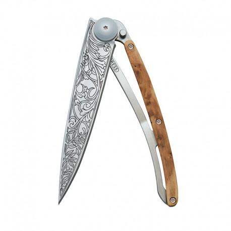 1CB014 Tattoo ART NOUVEAU nůž Deejo 37g Juniper