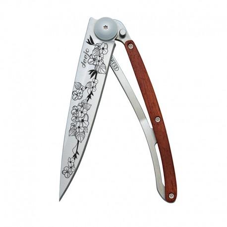 1CB017 Tattoo CHERRY BLOSSOM nůž Deejo 37g Rosewood