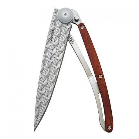1CB042 Tattoo ILLUSION nůž Deejo 37g Coralwood