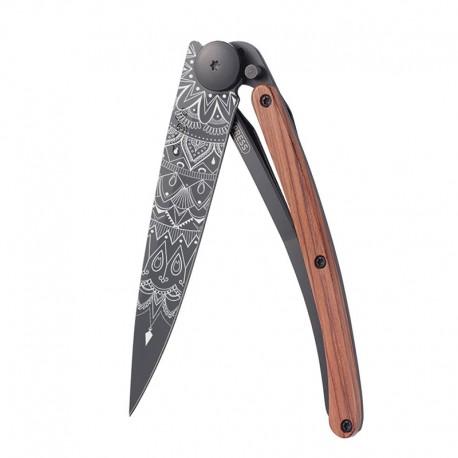 1GB125 Tattoo MANDALA nůž Deejo 37g Coralwood