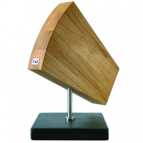 DM-0794 Dřevěné magnetické prkénko na nože KAI SHUN, dřevo-kámen-nerez