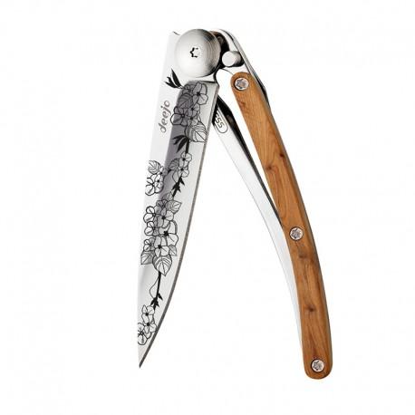 9AB022 Tattoo CHERRY BLOSSOM nůž Deejo 27g Juniper