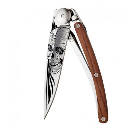 9AB024 Tattoo LATINO SKULL nůž Deejo 27g Coralwood