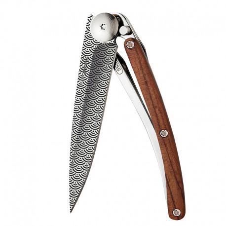9AB025 Tattoo CLOUDS nůž Deejo 27g Coralwood