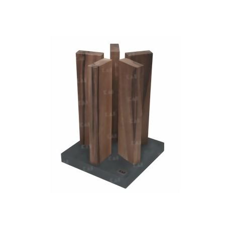 STH-4 Blok na nože KAI Stonehenge - ořech