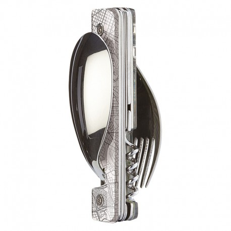 Multifunction magnetic cutlery set Akinod 13h25 Downtown White