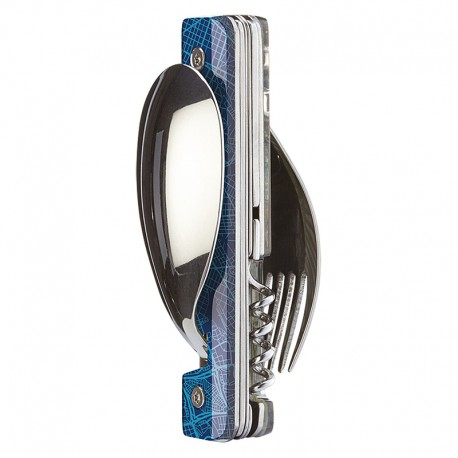 Multifunction magnetic cutlery set Akinod 13h25 Downtown Blue