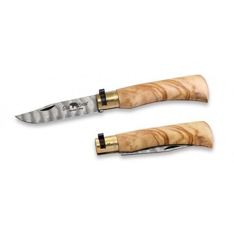 Old Bear knife M Olive Damascus 9305/19_LU