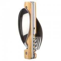 Folding magnetic cutlery Akinod 13h25 Wood Olive