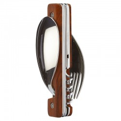 Folding magnetic cutlery Akinod 13h25 Wood Coral