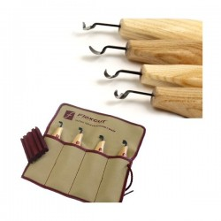 Set of  4 Left-handed scorp set Flexcut KNL150